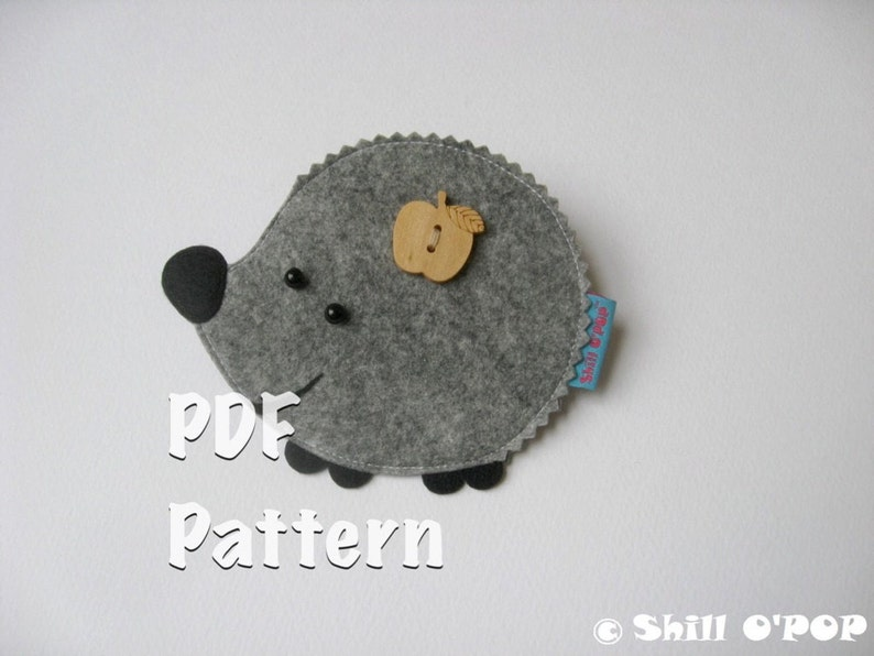 Counting with Hedgehog Math Game Felt Toy PDF Pattern image 0