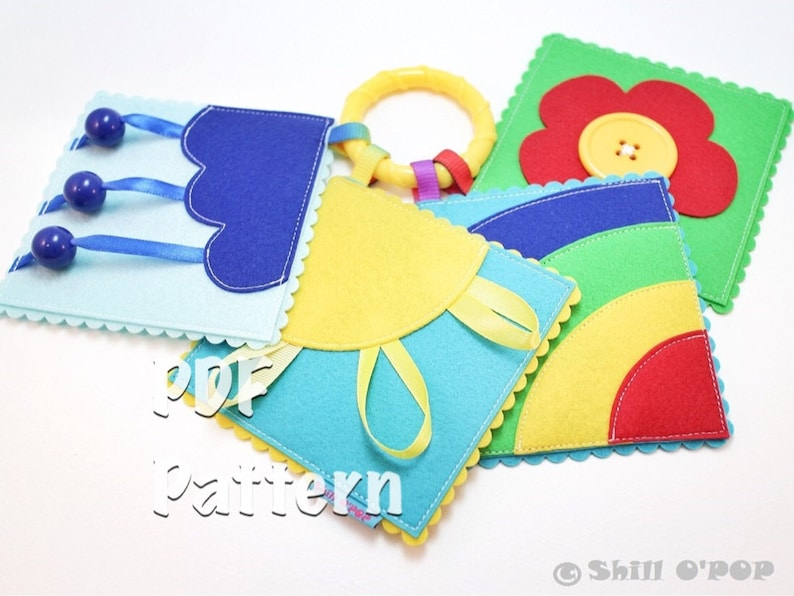 Quiet Book Pattern Pocket Sized Felt Baby's First  Play image 0