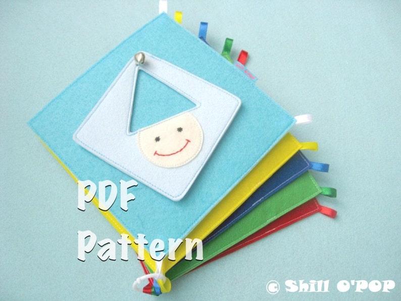 Children's Shapes And Colours Felt Quiet Book PDF Pattern image 0