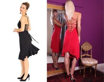 a163b69df34 Sexy Lace-up Tango Dress