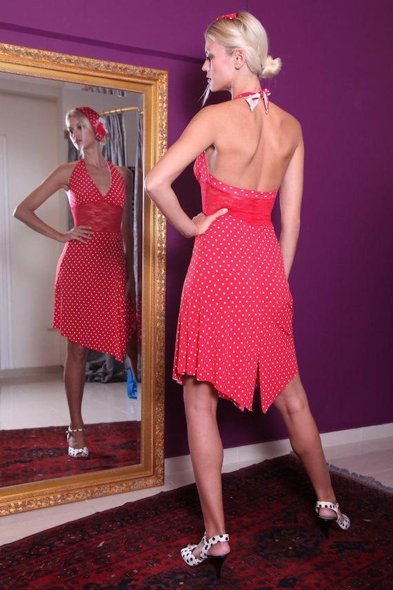 Dance Red Red Milonga Tango with Dress Waist Lace Argentine Tango Dress Dress wqrqxFvX