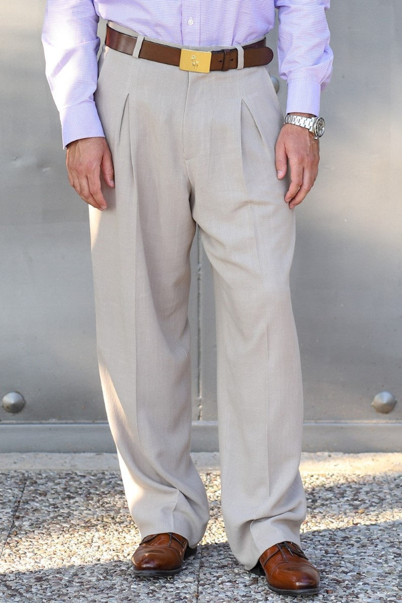 80s Mens Jeans, Pants, Parachute, Tracksuits Tango trousers Men Tango pants Men linen pants Men trousers Men formal pants Men dance pants Men beige pants Men wide pants His gift $143.28 AT vintagedancer.com