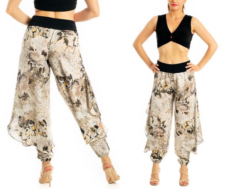 6a54cd6d3ff0 Beige Tango Pants Women's Tango Pants with Slits | Etsy