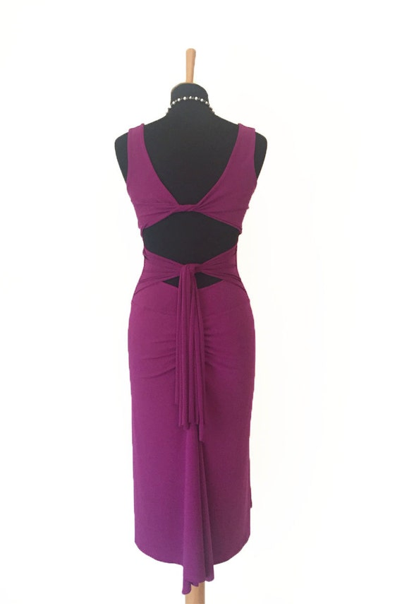 Tango Dress Tango with Milonga Clothing Open Slits Custom Dress and made Back Argentine 6wqardxzwW