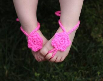 Crochet Baby barefoot sandals