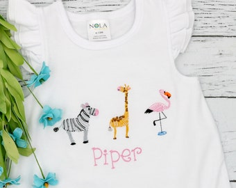 Zoo Animals Scribble, Zoo Animals Vintage Stitch, Zoo Animal Trio, Zoo Animals Shirt, Zoo Animals