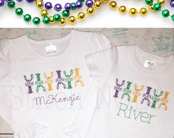 Mardi Gras Crawfish Vintage Stitch, Crawfish Vintage, Mardi Gras Shirt