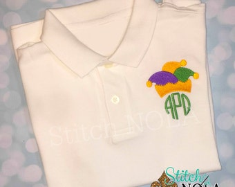 Jester Hat Monogram Collared Shirt ONLY