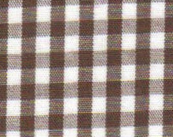 Chocolate Gingham Fabric  Fabric, Fabric Finders, 100% Cotton, Chocolate Check, Brown Check, Brown Gingham