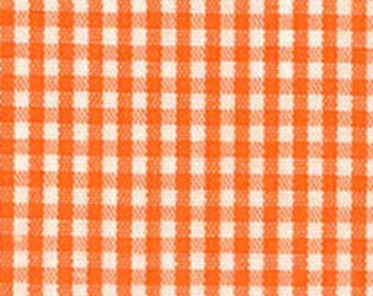 Orange Check Fabric, Fabric Finders, Orange Gingham Fabric – 1/16″ 100% cotton gingham