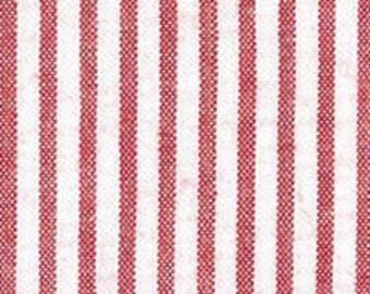 Red Seersucker Fabric, Fabric Finders, 100% Cotton, Red Stripe