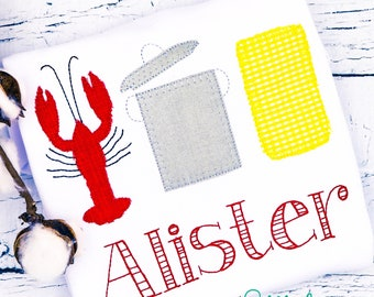 Crawfish Boil Trio, Crawfish Boil Applique, Crawfish Boil Shirt, Crawfish Applique