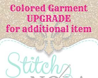 Colored Garment Upgrade for Additional Item
