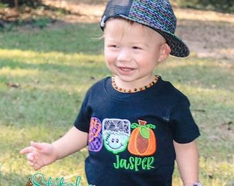 Boo Appliqué, Hallowee Shirt, Boo Halloween Shirt