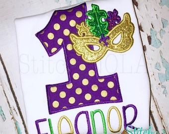 Mardi Gras Birthday Shirt