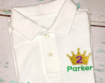 Mardi Gras King Crown Collard Shirt, Mardi Gras Crown Collard Shirt