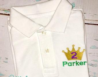 Mardi Gras King Crown Collard Shirt, Mardi Gras Crown Collard Shirt