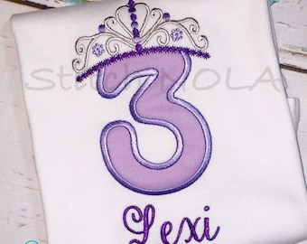 Birthday Princess Tiara Shirt or Bodysuit
