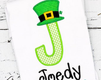 St Patrick's Day, St Patricks Day Applique, Toddler St Patricks Day Shirt, Lucky Alpha, St Pattys Day, Lepechaun,