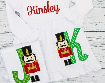 Nutcracker Alpha Applique, Nutcracker Applique, XMAS Applique, Nutcracker Shirt, Christmas Applique