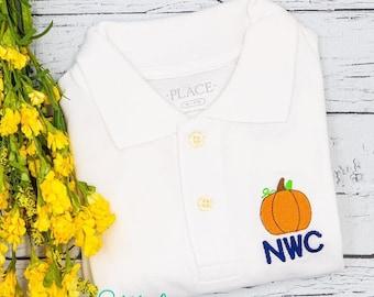 Pumpkin Monogrammed Collared Shirt