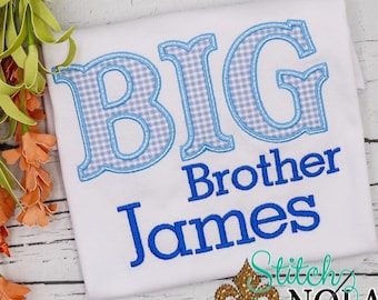 Big Brother Appliqué, Brother Appliqué, Big Brother Shirt