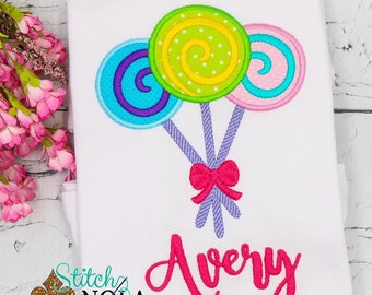 Lollipop Applique, Sweet Shop Birthday, Candy Birthday Shirt ,Candy Land Birthday, Lollipop Birthday
