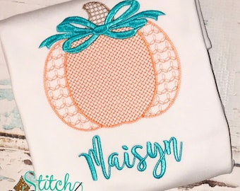 Motif pumpkin with Bow, pumpkin Shirt, Fall Shirt