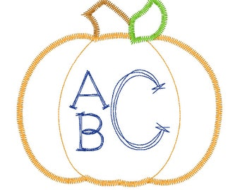Pumpkin  Monogram Applique, Pumpkin Applique, Boy Pumpkin Applique, Fall Applique, Pumpkin Patch Outfit