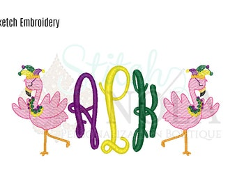 Mardi Gras Sketch Embroidery
