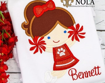 Red and White Cheerleader Shirt T-Shirt or Bodysuit