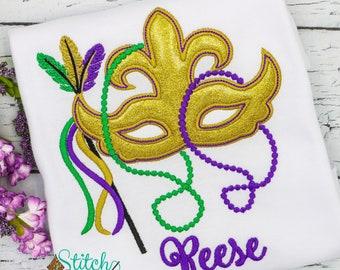 Mardi Gras Mask Applique
