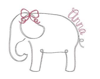 Elephant Mascot Vintage Embroidery, Vintage Elephant
