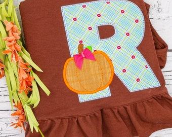 Pumpkin Alpha Applique, Pumpkin Applique, Fall Applique, Pumpkin Patch Applique