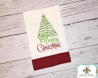 Christmas Tree Waffle Towel