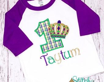 Mardi Gras Birthday, Mardi Gras Crown Shirt, Bodysuit or Gown