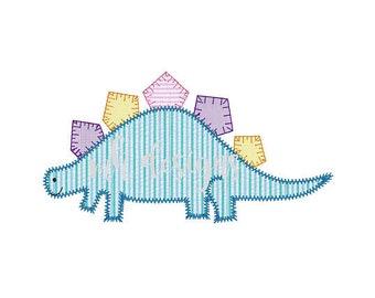 Dinosaur Applique, Dinosaur Shirt, Vintage Dinosaur Applique, Stegosaurus Applique, Toddler Dinosaur Shirt