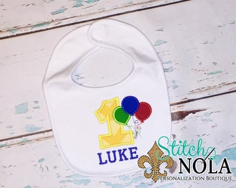 Balloons Birthday Bib