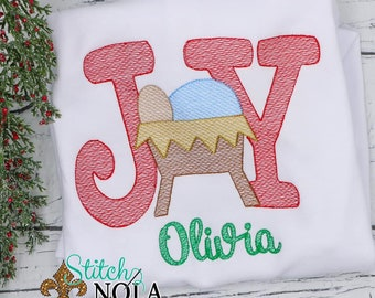 Joy Sketch Personalized, Joy Christmas Outfit, Baby Jesus Embroidery, Christmas Outfit, Xmas Shirt