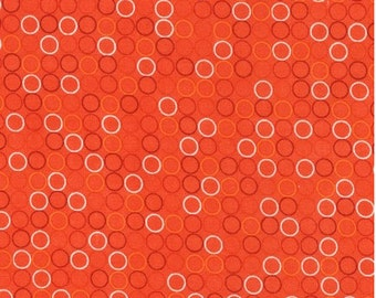 Spot On Tangerine by Robert Kaufman, Orange Polka Dots, Polka Dots Fabric, Robert Kaufman