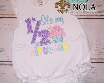 1/2 Birthday Bubble, Tee, Gown, Romper, Bib or Bodysuit