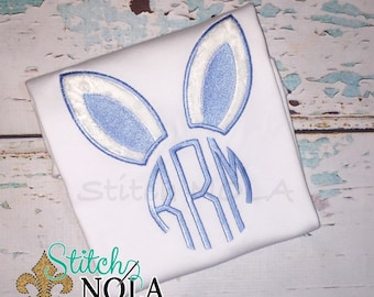 Bunny Monogram Shirt, Gown or Bodysuit