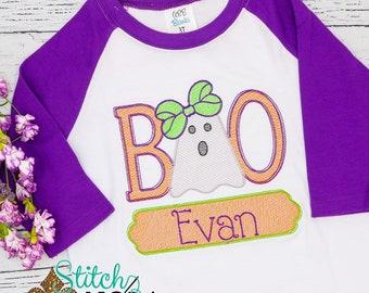 BOO Ghost Sketch Halloween Embroidery, Vintage Ghost, Vintage Halloween