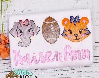 Girls House Divided Sketch Football Shirt, Elephant vs Tiger Football Shirt