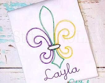Mardi Gras Fleur De Lis Elegant Vintage Design, Mardi Gras Shirt, Vintage Fleur de lis