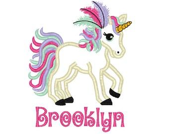 Rainbow Unicorn Applique, Unicorn Applique, Unicorn Shirt, Unicorn Birthday Shirt