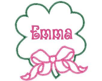 Shamrock Applique, Clover Applique, Four Leaf Clover Applique, Boy Clover, Girl Clover, Clover with Bow Applique, St Patricks Day