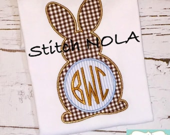 Bunny Monogram Shirt, Gown or Bodysuit-Boy or Girl