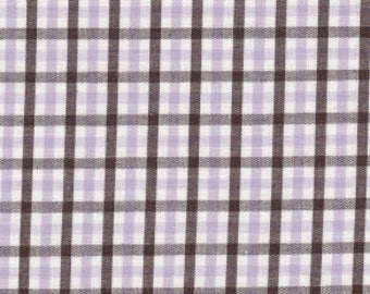 Lavender Check Fabric, Fabric Finders, 100% Cotton,Lavender Gingham