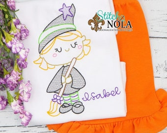 Personalized Halloween Outfit,  Outfit, Witch Outfit, Witch Embroidery, Halloween Outfit